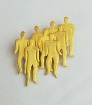 Vintage JJ 1988 figural people crowd silhouette brooch pin - $19.97