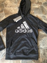 New!! Girls Youths Adidas Black Climalite LS Pullover Hoodie!!(XS 4-6) CX5127 - $23.27