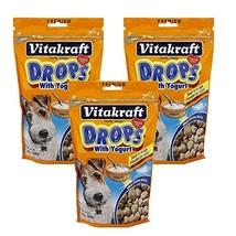 VitaKraft Drops with Yogurt Dog Treat Snacks - 3 PACK - $19.51