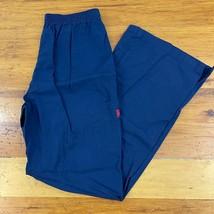 NEW Dickies Scrubs Cargo Pants Womens Camo Trim 51702 Navy Blue Drawstring - $18.80