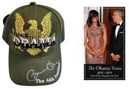 "The Obama Years 2018 ""Pocket Calendar"" & Golden Eagle Signature Cap - Gi... - $24.74"