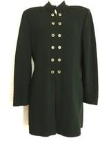 St. John Collection Marie Gray Dark Green Top Jacket Sz 2 Santana Knit B... - $148.45