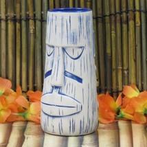 The Alibi Zombie Blue Tiki Mug Munktiki Portland Oregon Moai Easter Island - $55.74