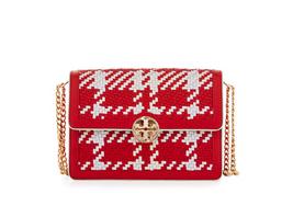 NWT Tory Burch Duet Chain Woven Convertible Shoulder Bag - $432.00