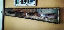 Coat Hanger Rack Wall Handmade Mount Hook Reclaimed Wood Rustic Hat Fini... - $61.92+