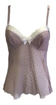 Ladies Womens Sexy Brown Mesh Lace Light Lingerie Nightwear Camisole Cami Vest - $7.97