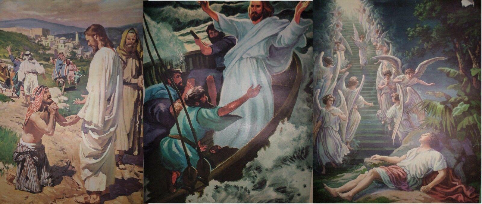 Vintage Religious Posters Church 50's 60's Jesus Bible Stories 18x24 15pcs  image 3
