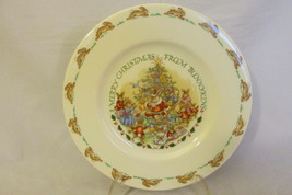 """A Merry Christmas From Bunnykins"" - Royal Doulton English Bone China Plate - $15.99"
