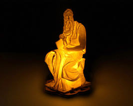 Michelangelo's Moses - 3D Printed Accent Lamp - €31,47 EUR+