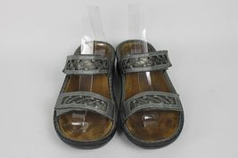 38 EU Hook Size Naot Slides Strap Sandals US Loop 7 5 Silver Metallic Women's 7 ETHxwt
