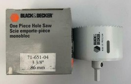 "Black & Decker 71-651-04 3 3/8"" 86mm Hole Saw USA - $8.42"