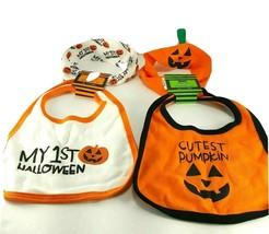 Halloween baby bib headband Set My 1st Halloween And Cutest Pumpkin Lot ... - $14.84