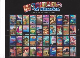 2006 Wonders of America Sheet Of Forty 39 Cent Stamps Scott 4033-72 By USPS - $21.75
