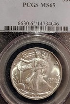MS 65 1947 Walking Liberty Silver Dollar, PCGS 14734046, Certified and G... - $110.00