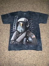 The Mountain Bald Eagle Fighter Pilot T Shirt Size L Great Condition - $16.78