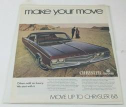 VTG 1968 Chrysler 300 Wagon 1960-70's Original Magazine Print Ad - $14.24