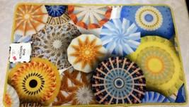"Jumbo Printed Nylon Kitchen Rug (Nonskid Back) (20"" X 32"") Stars & Circles By Am - $17.81"