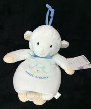 Carters Musical Pull Lamb Sheep Sweet Dreams White BLue Crib Hanging Plush NEW - $30.95