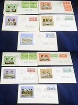 10 USA Army Navy Issue FDC First Day Cover Collection Sc# 785-794 Stamps... - $68.40