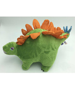 Manhattan Toy Green Orange Blue Stegosaurus Dinosaur Plush Stuffed Animal - $14.99