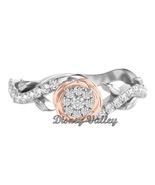 ENCHANTED DISNEY DIAMOND BELLE ROSE PROMISE RING IN 925 sterling silver - £62.98 GBP