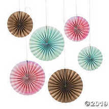 Watercolor Rainbow Hanging Fans - $11.61