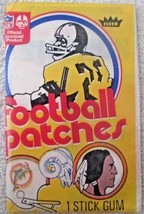 Fleer 1974 Football Patches unopened pack near mint - $9.99