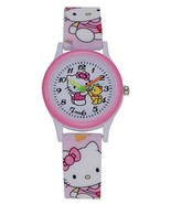 Hello Kitty Style Watch with Teddy Bear Design Fashion Pink Girls Watch,... - $11.85
