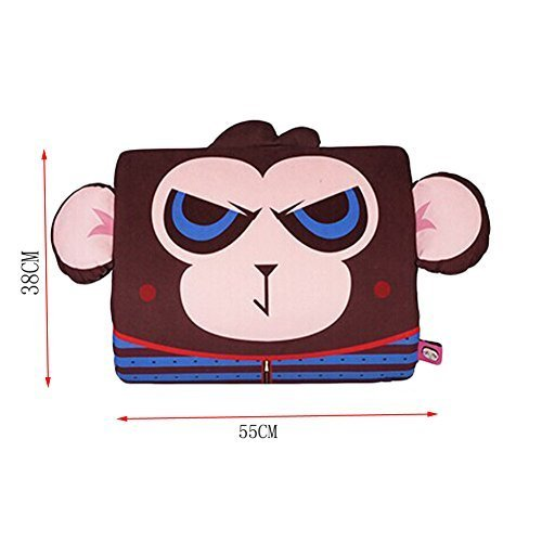 Cartoon Monkey Breathable Lumbar Support/Back Cushion Memory Foam, Brown