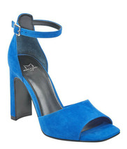 Marc Fisher Harlin Blue Suede Ankle Strap Sandals, Size 7.5 M - $39.59