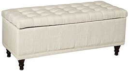 Homelegance 4730NF Lift Top Storage Bench with Tufted Accents, Beige Fabric - €351,10 EUR