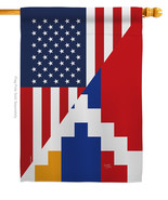 Republic of Artsakh US Friendship - Impressions Decorative House Flag H1... - $36.97