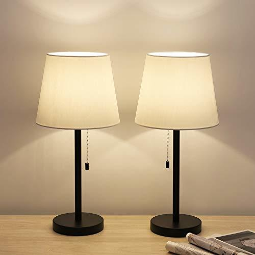 Modern Table Lamp Set Of 2, Bedside Lamps For Bedroom