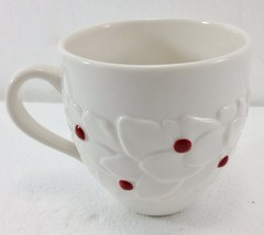 Starbucks Coffee Holiday 2004 White Holly Mug Cup Red Dot 16 oz Christma... - $32.83