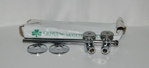 Genuine mcguire Product 2167 Standard Wheel lavatory Supply Kit Chrome Plated