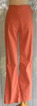"Cache Flat Front Pant Size Small MELON ORANGE Stretch no pockets 3"" wais... - $29.95"