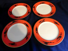 AA  Mikasa Fine China Negoria Red Designed by Bardi Salad Plates Lot of ... - $18.65