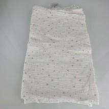 Aden + Anais Mint Green Aqua Blue Gray White Star Muslin Cotton Baby Bla... - $34.64