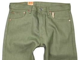 NEW LEVI'S 501 MEN'S ORIGINAL FIT STRAIGHT LEG JEANS BUTTON FLY OLIVE 501-1437 image 2