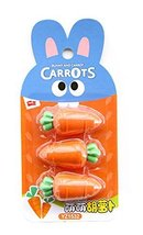 Carrot Modeling Funny Stationery Erasers for Party Decorations 4Pcs - $20.36