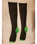 NWOT men's tight fitting tube socks Size S/M black with stripes, green h... - $3.96