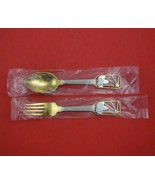 Christmas by A. Michelsen Sterling Silver Fork and Spoon Set 2pc 1938 Ve... - $305.91