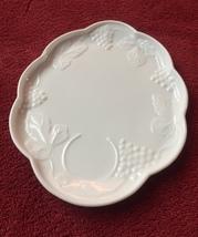 Vintage Colony Harvest Grape Milk Glass snack set (perfect shape) image 3