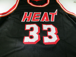 ALONZO MOURNING / NBA HALL OF FAME / AUTOGRAPHED MIAMI HEAT CUSTOM JERSEY / COA image 2