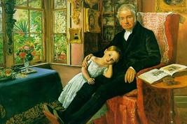 James Wyatt & His Granddaughter by John Everett Millais - Art Print - $19.99+