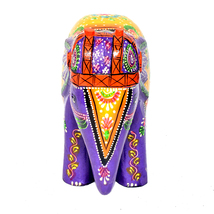 Multi Color Elephant Statue Hand Carved Collectible Figurine and Sculptu... - $28.95