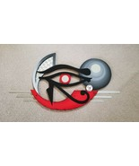 Unique EYE Wall Sculpture, The Eye of Horus, wood with Metal  Egyptian W... - $277.19