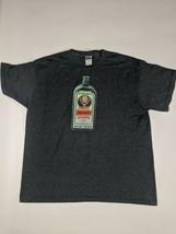 Jagermeister Bottle Logo Men's XL Graphic T Shirt Gray Shot Glass Herbs - $15.35