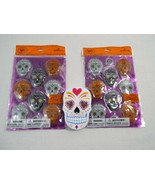 Sugar Skulls Day of the Dead Halloween 2 Packs Puffy Stickers Container ... - $16.73