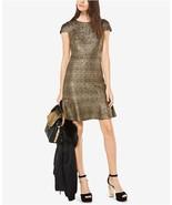 $125  Michael Kors Metallic-Knit A-Line Dress Gold S - $91.96